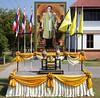 King Rama IX is everywhere