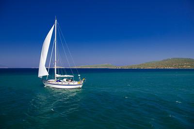 Saling out from Cunda Island, Ayvalik, Turkey