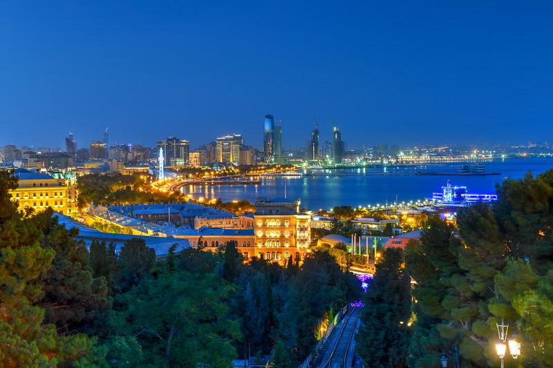 Skyline of Baku, Azerbaijan