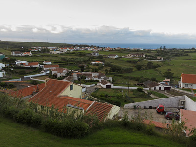 The view from my hotel window - the town of Vila de Porto