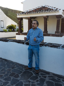 Jose in front of the church in Anjos
