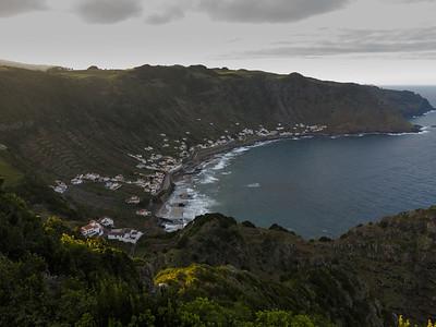 The view over São Lourenço. Disused vinyards cover the slopes