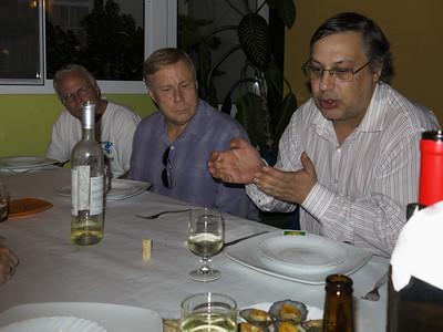 Dinner in Santo Espírito, Greg, Dan and Jose