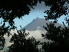 View of Pico mountain on the next island from our Horta hotel window
