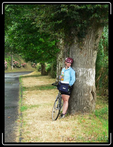 This was the only riding day where it rained. It was only bad enough to stop for short time, so we just waited under some trees.