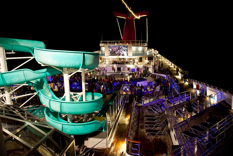 LATE EVENING PARTY ON THE LIDO DECK