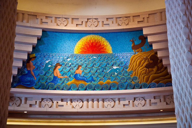 MOSAIC DECOR IN THE ROYAL TOWERS LOBBY-ATLANTIS