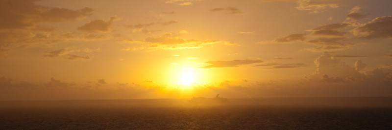 CARNIVAL CRUISE SHIP DEPARTING NASSAU AT SUNRISE