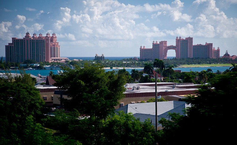 VIEW OF PARADISE ISLAND AND THE ATLANTIS RESORT FROM FORT FINCASTLE