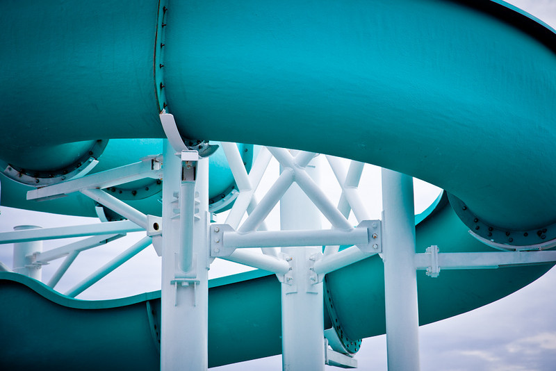 WATER SLIDE ON THE LIDO DECK