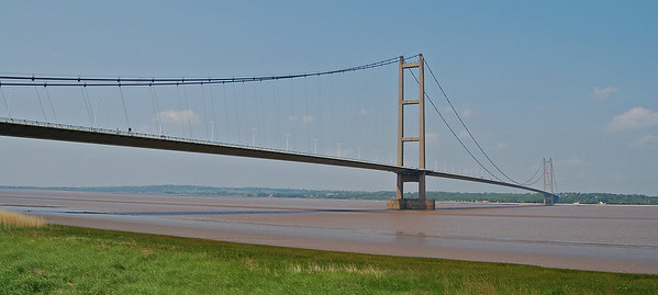 The mighty Humber Bridge, the longest single span suspension bridge in the world when it was built in the 70s