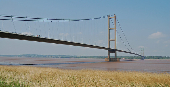 The mighty Humber Bridge, the longest single span suspension bridge in the world when it was built in the 1970s
