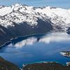 Garibaldi Lake - we hiked along the shore at the bottom of the photo.