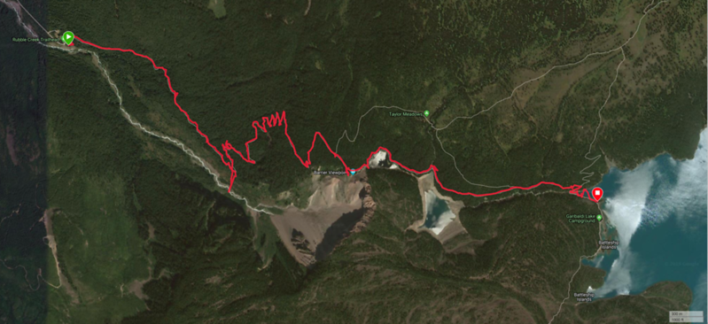 Garibaldi Lake Trail Map
