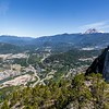 View of Squamish, BC from the Stawamus Chief Trail