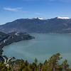 View of Howe Sound and the Sea to Sky Highway from Stawamus Chief Trail