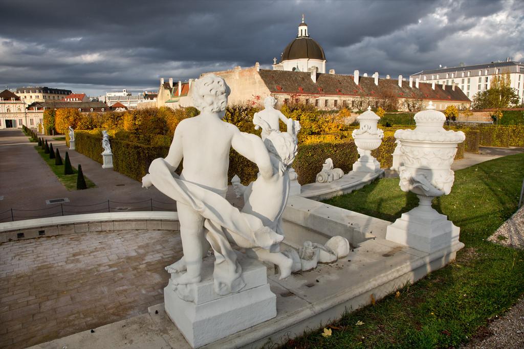 Baroque Sculptures, Belvedere Garden