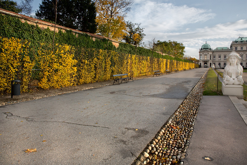 East Pathway to Upper Belvedere Palace