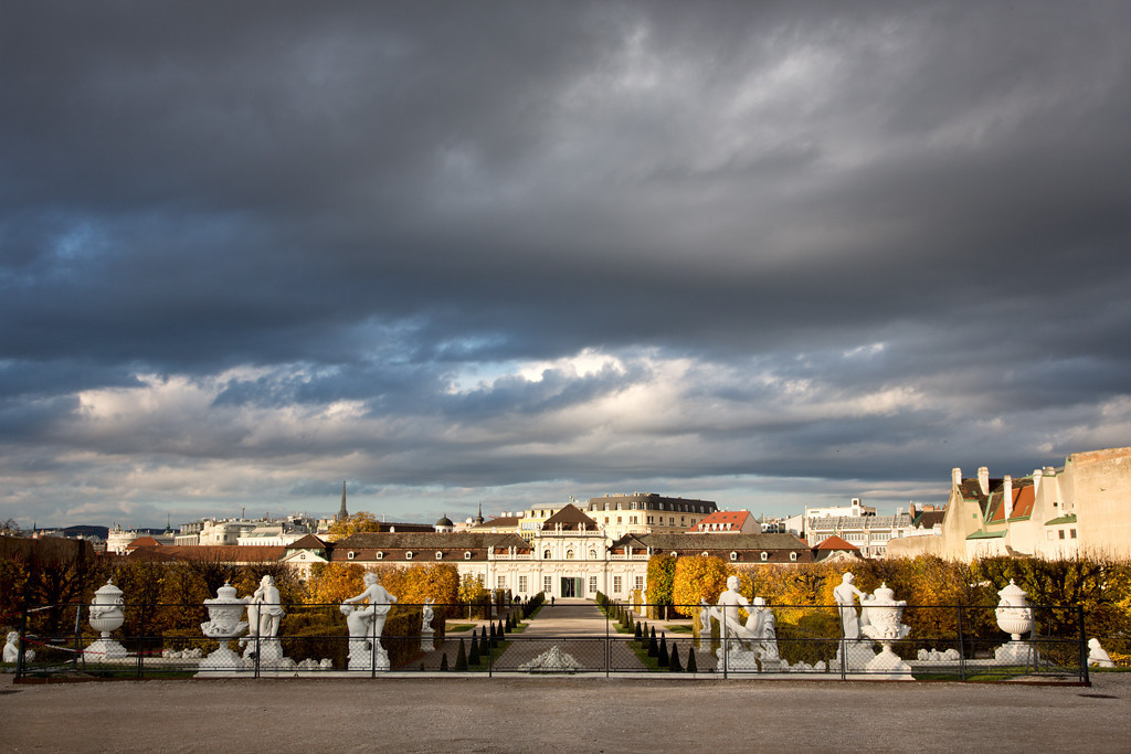 Panoramic View of Lower Belvedere Palace from Terrace, Upper Belvedere