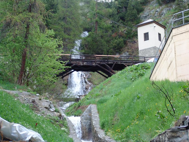 Waterfall:  St. Moritz, Switzerland