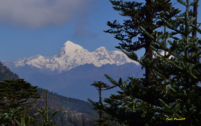 Mt Jomolhari, visible on a clear day in western Bhutan, 22,035ft.