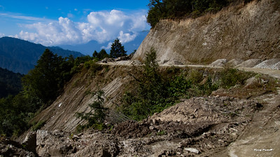 There is extensive road widening projects taking place through out our trip. Bhutan essentially has just one main road through the center of the country. For that reason there are only about 200 tourist per year that travel east of the center.
