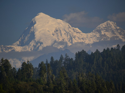 Mt Jomolhari, 2nd highest in Bhutan at 23,685 ft