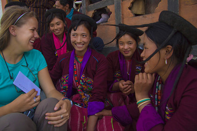 meeting the Brokpa girls, yak herders