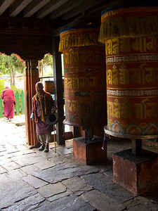 prayer wheels are in every village