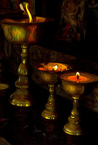 candles reflect the spiritual nature of the Bhutanese people