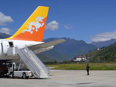 We landed in perfect weather in Paro.