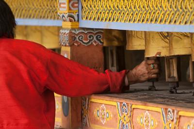 spinning the prayer wheel