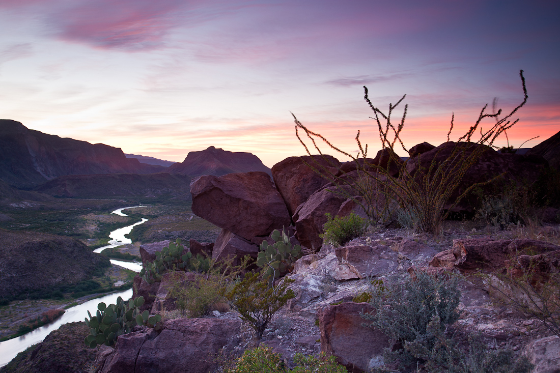 RIO GRANDE OVERLOOK IN BIG BEND RANCH STATE PARK