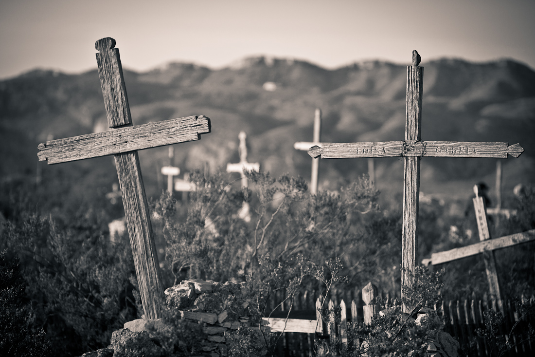 """SEA"" OF CROSSES AT THE TERLINGUA CEMETERY"