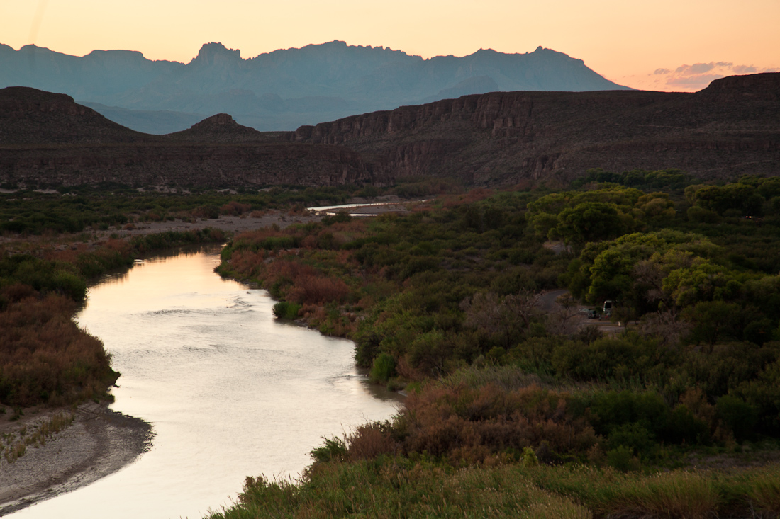 CHISOS MOUNTAINS AS VIEWED FROM THE RIO GRANDE VILLAGE OVERLOOK