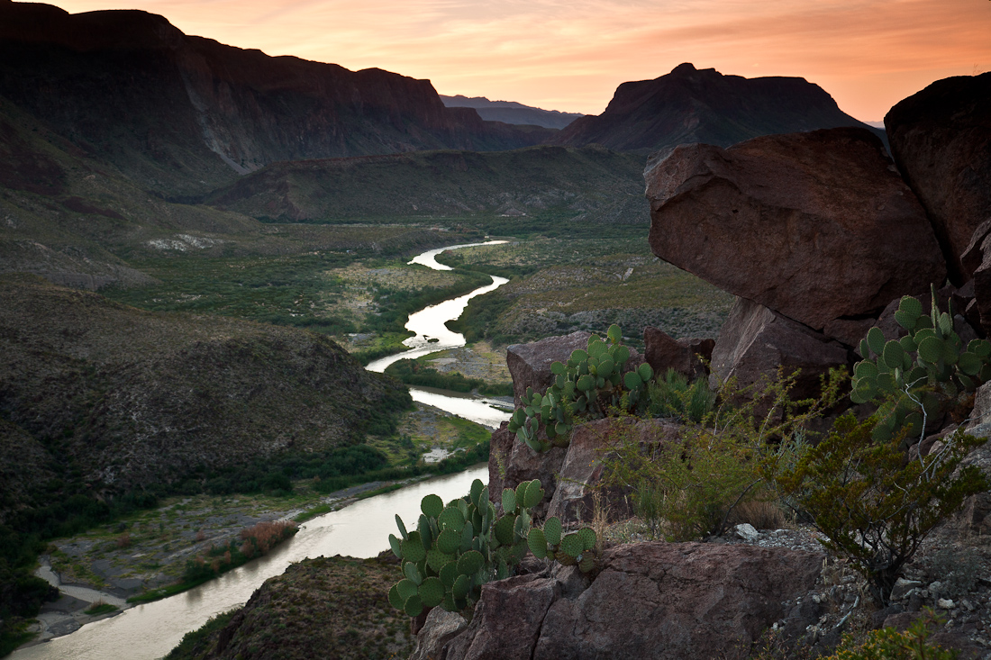 SUNSET AT BIG BEND RANCH STATE PARK