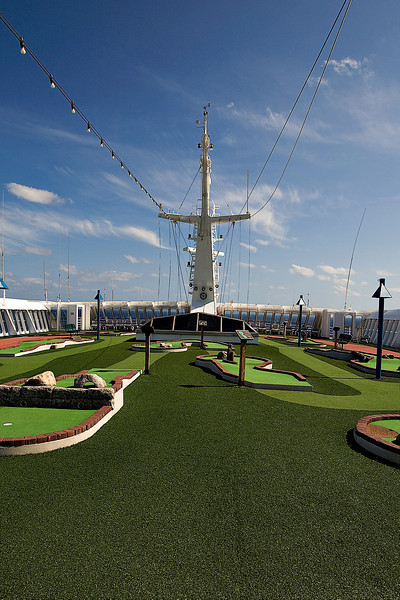 "GOLF ON THE ""SPORTS"" DECK"