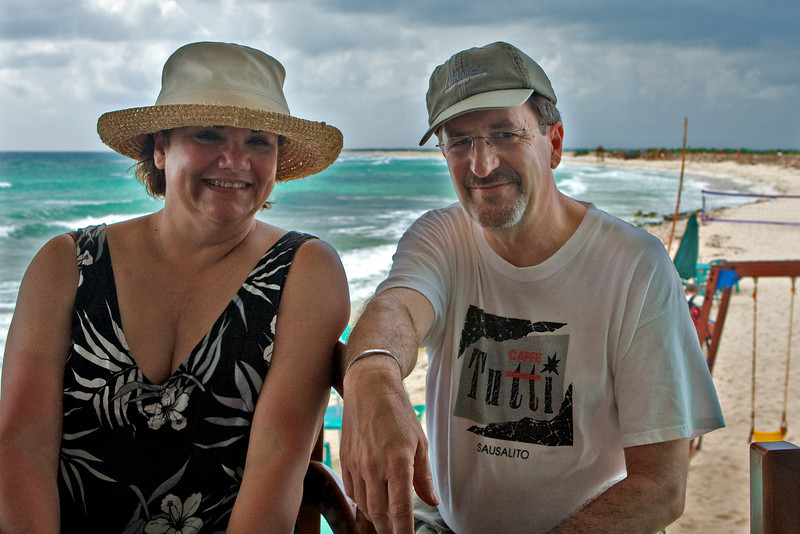 KIM AND DOUG  AT PLAYA-BONITA, COZUMEL