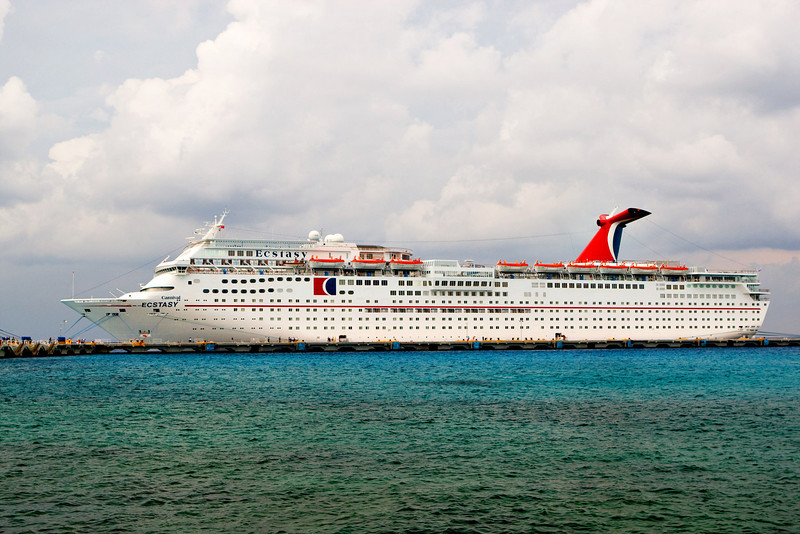 "MS ""ECSTASY"" AT THE COZUMEL PIER"