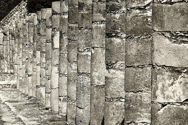 """A FEW OF THE """"HUNDREDS"""" OF COLUMNS PRESENT AT THE WARRIOR'S TEMPLE"""