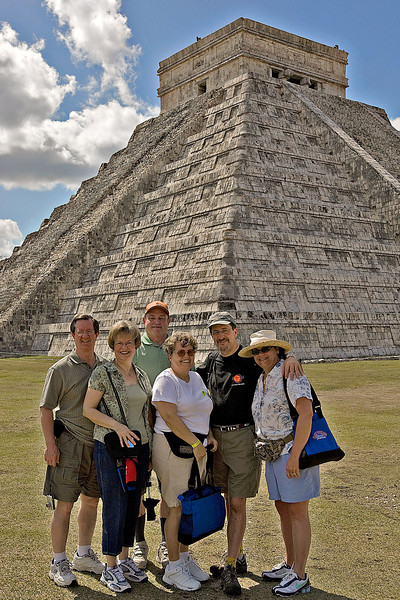 DAVID AND PEGGY PATTERSON PETTON,<br /> RODNEY AND BECKIE RUNDLE,<br /> DOUG AND KIM STEGER<br /> AT CHICHEN ITZA, MEXICO