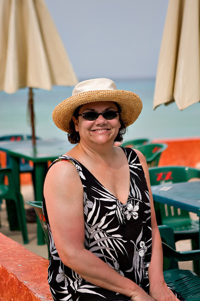 KIM AT MR. SANCHO'S BEACH CLUB - COZUMEL