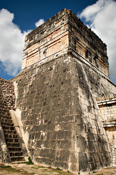 THE TEMPLE OF THE JAGUARS ADJACENT TO THE BALL COURT