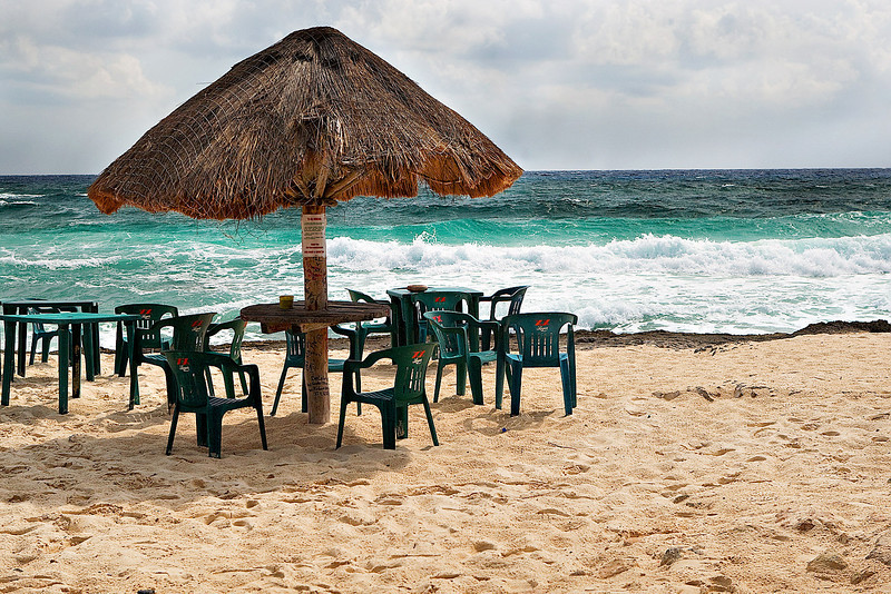 """NICE"" VIEW FROM RASTAS' BAR AND GRILL - COZUMEL, MEXICO"