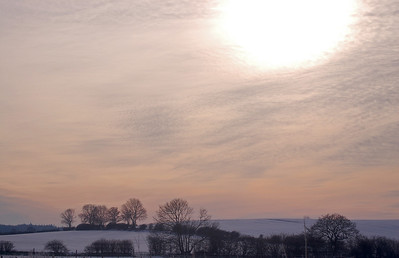 Luminescent sky over the Wolds