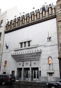 11-New Theatre (SZINHAZ) is spelled on the frieze.