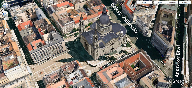 41-St Stephens Basilica, Google earth