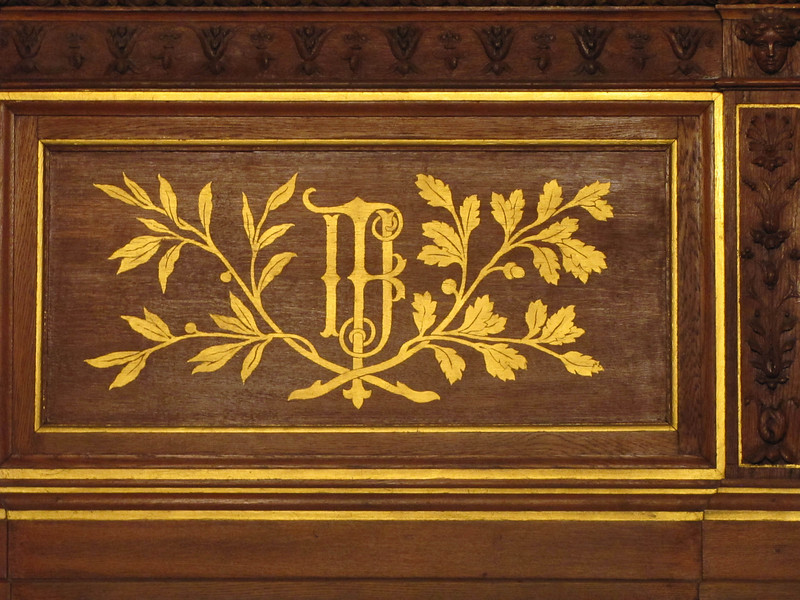 28-Wall panels in the room are emblazoned with the crest/initials of Franz Joseph, Emperor of Austria-Hungary.