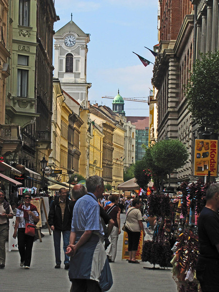 51-Vaci Utca shopping street