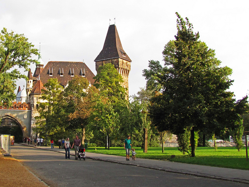 75-Vajdahunyad Castle in city park was constructed for the 1896 Millennial Exhibition.